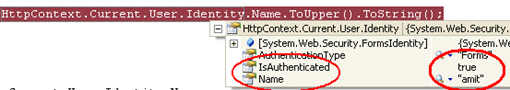Context User Identity Name Is Empty Null Blank