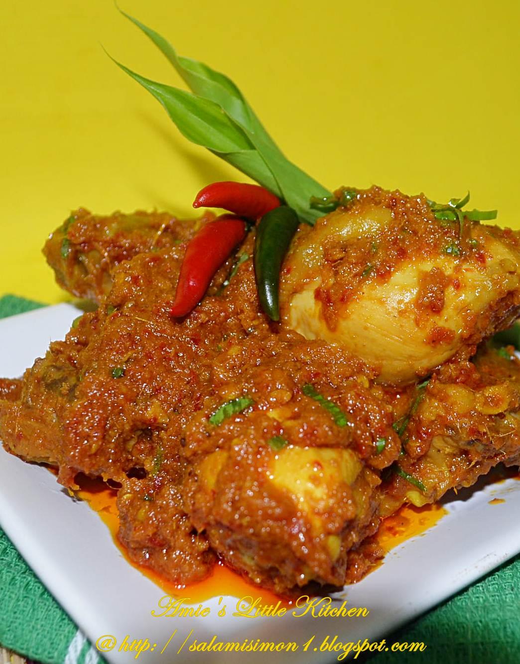 amies  kitchen rendang ayam kota  malaysian food festival perak month Resepi Rendang Daging Jawa Enak dan Mudah