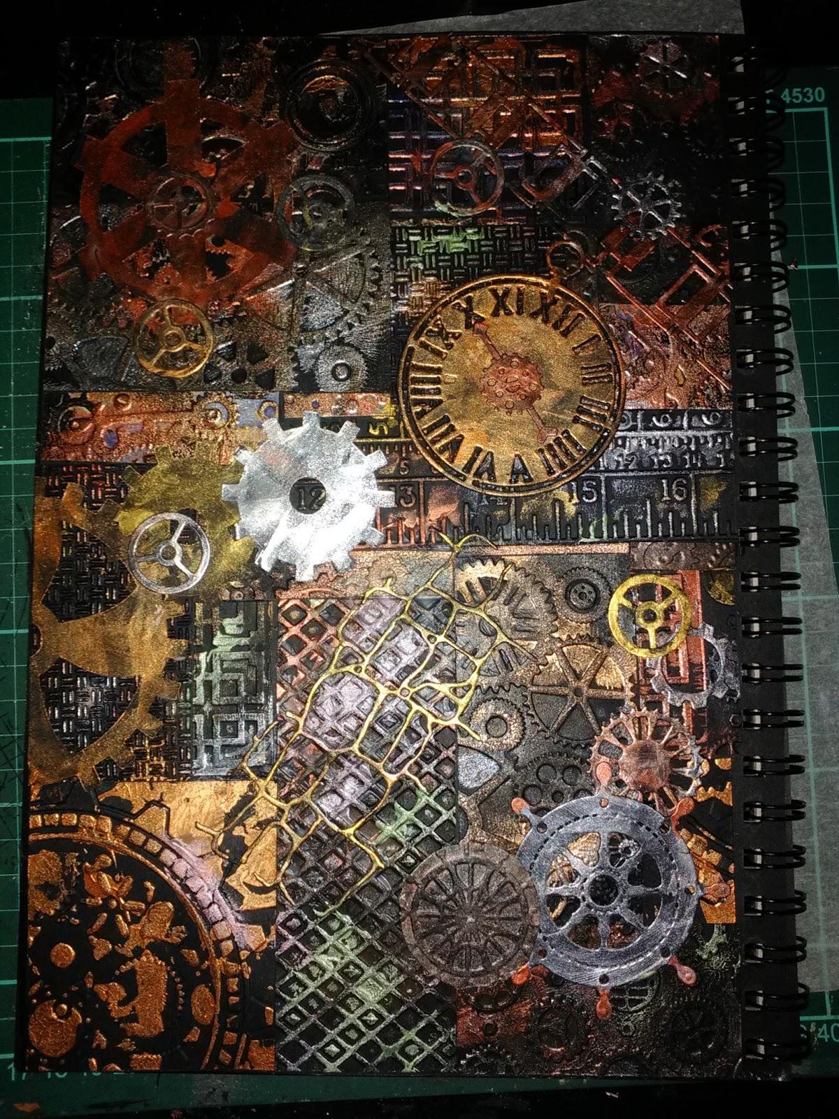 Susan Bluerobot Steampunk Mixed Media Art Journal Page