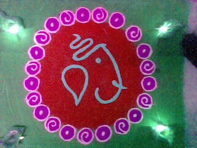 rangoli-wallpaper-ganeshji-desain