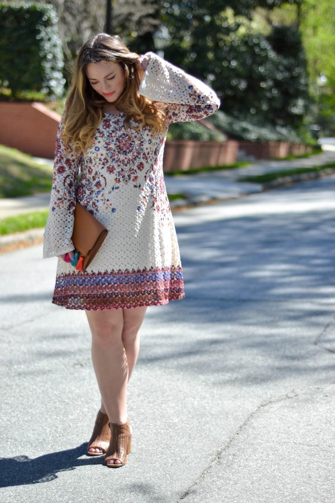 Crochet Bell Sleeve Dress | Brittany Ann Courtney