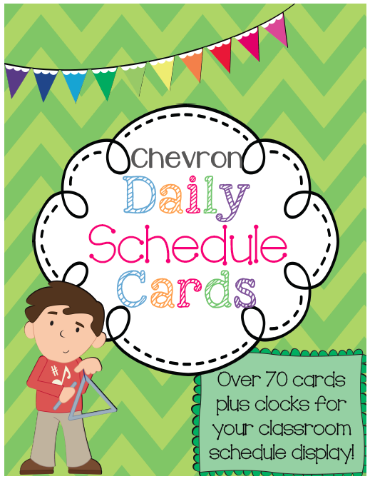 http://www.teacherspayteachers.com/Product/Daily-Class-Schedule-Display-Cards-Set-in-Chevron-1375239