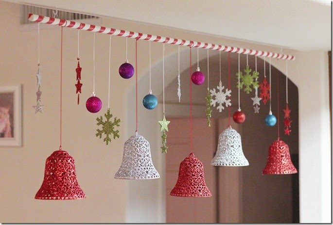 How To Make Paper Christmas Ceiling Decorations : Christmas jingle bells images with holly ribbon