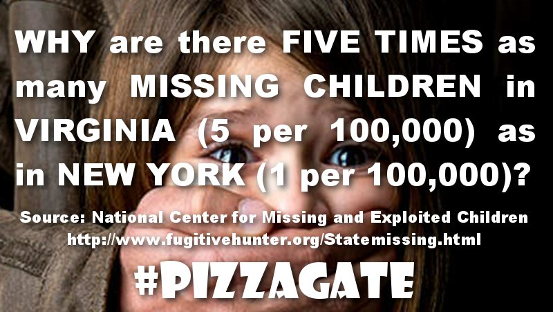 pizzagate missing children in virginia epidemic