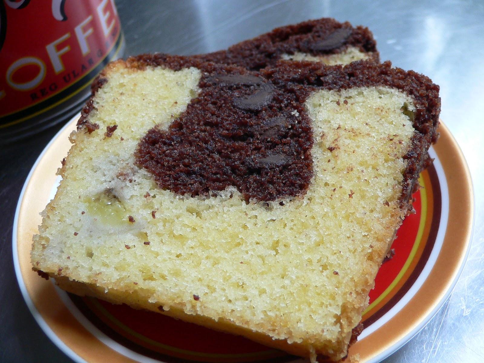 Chocoladecake met banaan