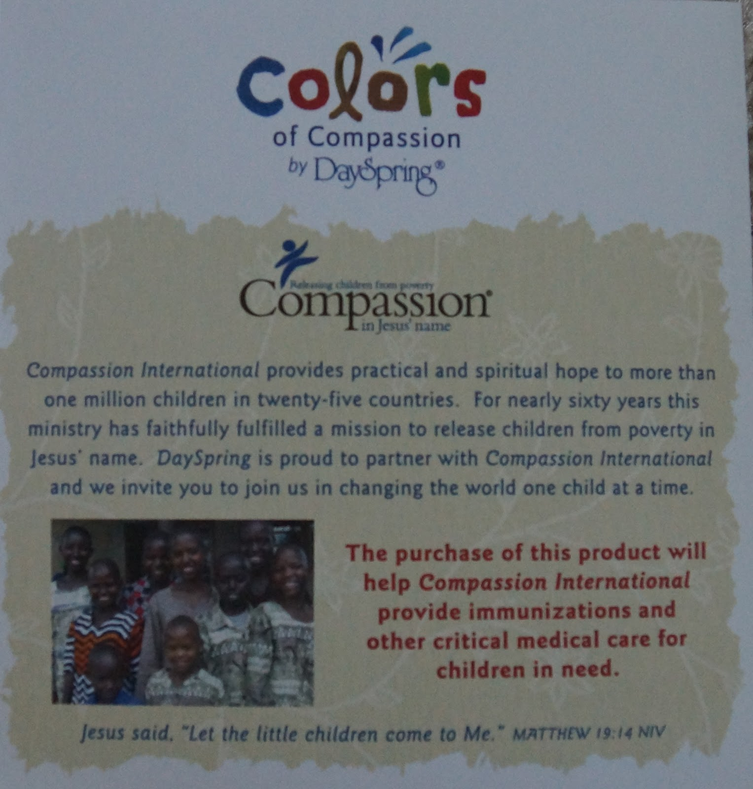 Compassion For Each Other: Compassion Family: Colors Of Compassion