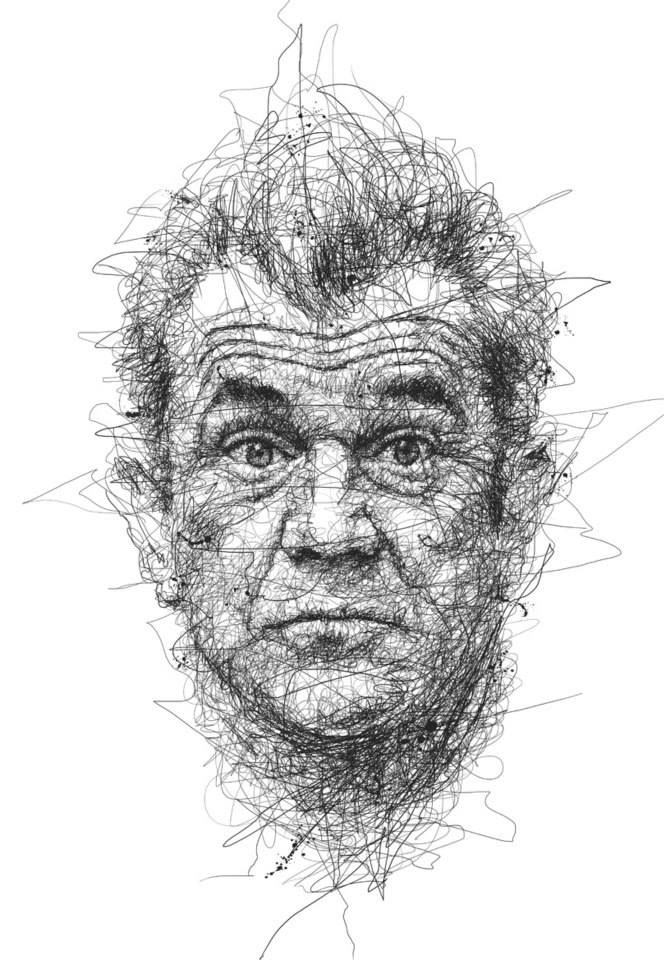 22-Mel-Gibson-Vince-Low-Scribble-Drawing-Portraits-Super-Heroes-and-More-www-designstack-co