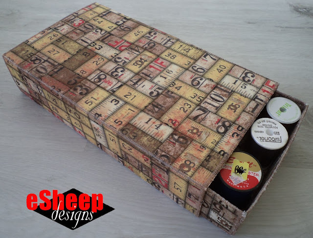 Fabric Match Box by eSheep Designs
