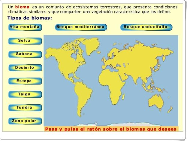 """""""Biomas del mundo"""" (Aplicación interactiva de Ciencias Naturales y Geografía)"""