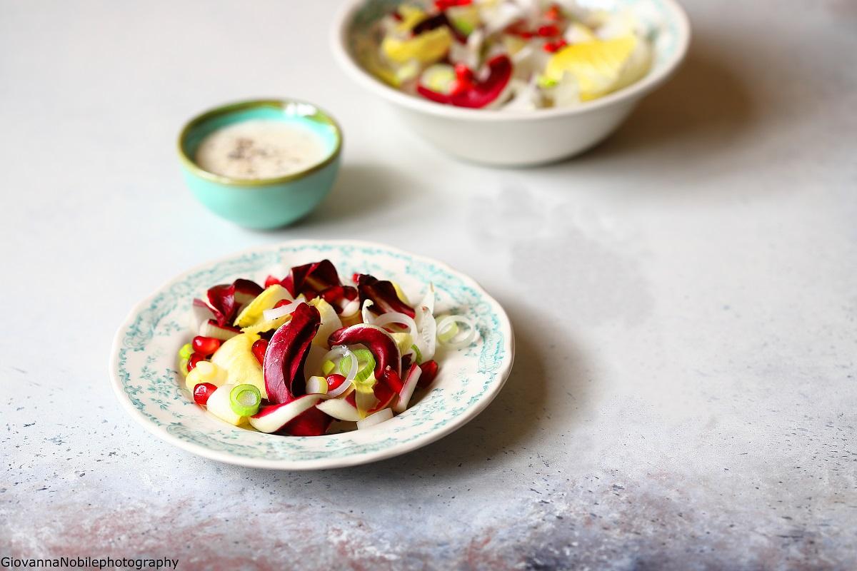 Insalata invernale con salsa al gorgonzola