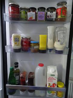 milk in fridge