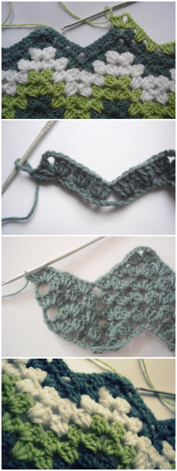 How To Crochet Granny Ripple