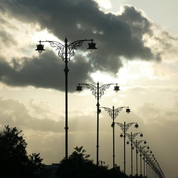 Strassenlampen, Salalah, Salala, Oman, Wetter, Stimmung