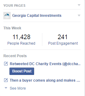 Like Georgia Capital Investments on Facebook