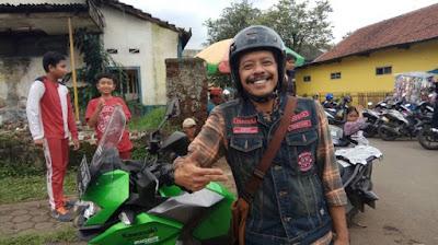Eddi Brokoli di Kampanye Safety Riding