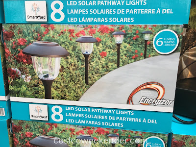Light the way with SmartYard 8 LED Solar Pathway Lights