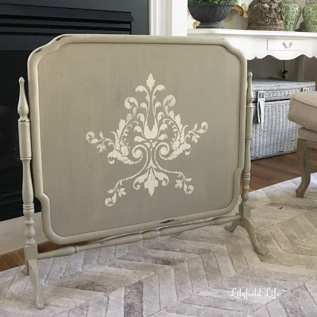 using stencils to give furniture some french flair Lilyfield Life