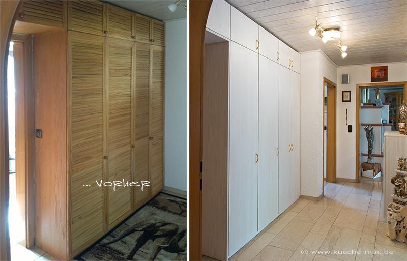 wir renovieren ihre k che kleine kuechenzeile neue schranktueren. Black Bedroom Furniture Sets. Home Design Ideas