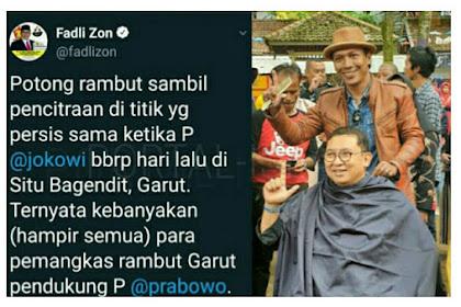Fadli Zon UNGKAP Pemangkas Rambut Asli Garut Kebanyakan Dukung Prabowo