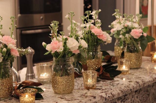 deco table de mariage fleur