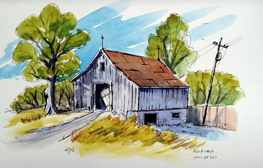Pen and Wash .. Lessons from Peter Sheeler