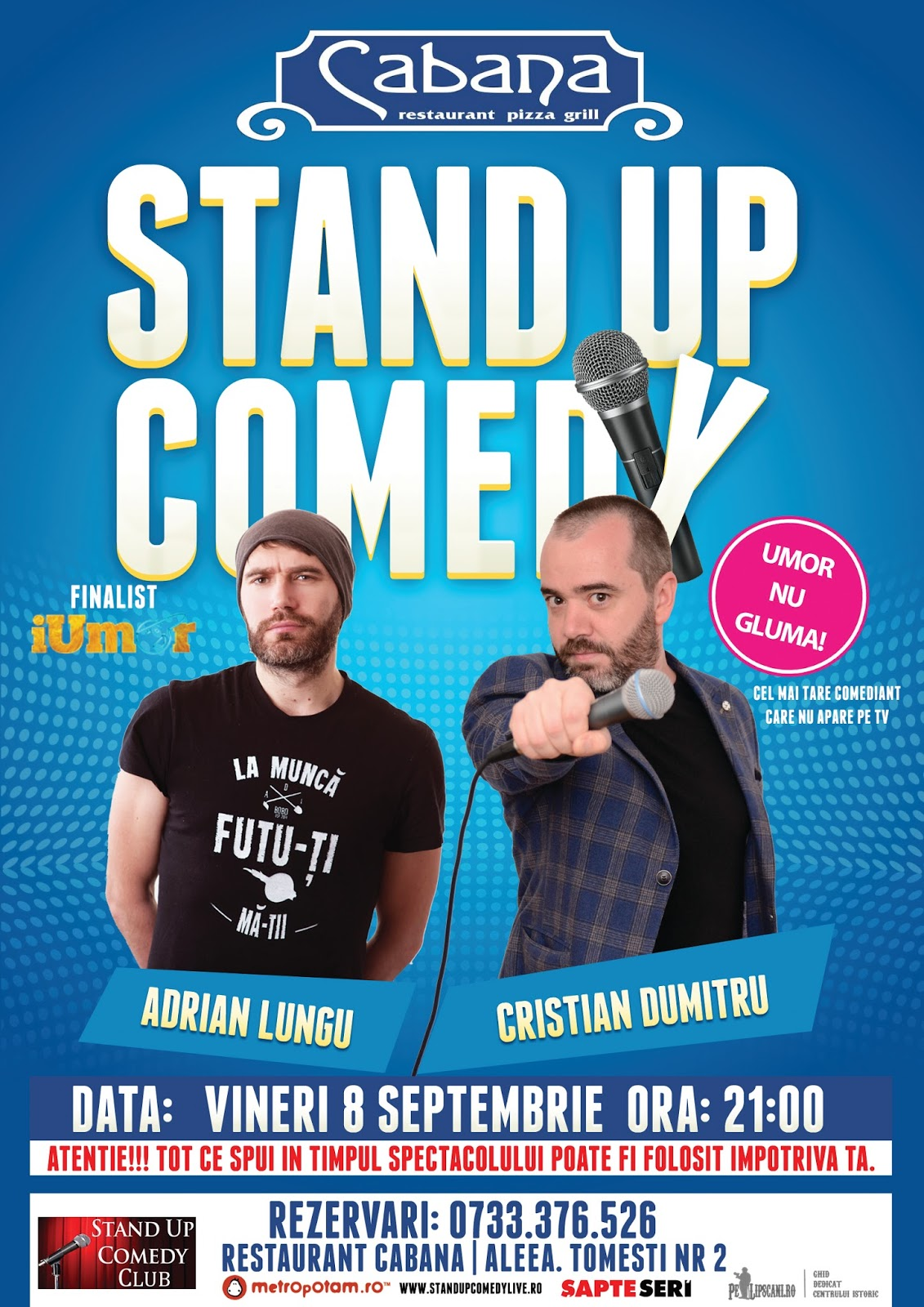 Stand-up Comedy Bucuresti Vineri 8 Septembrie