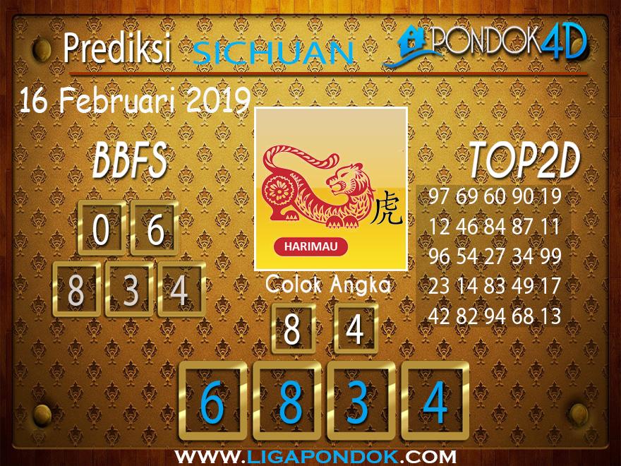 Prediksi Togel SICHUAN PONDOK4D 16 FEBRUARI 2019
