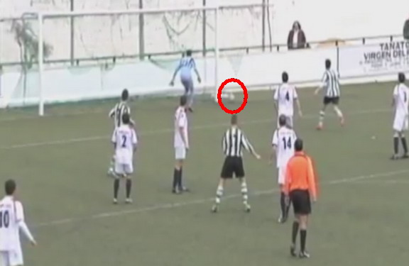 The referee appeared to see something no one else did