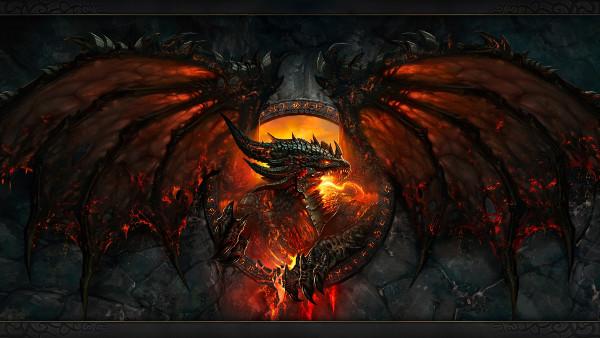 World of Warcraft Dragon Feu Ailes - Fond d'Écran en Full HD