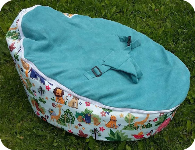 Bean Bag Planet Baby Bean Bag in Teal Zoo - Review and Giveaway