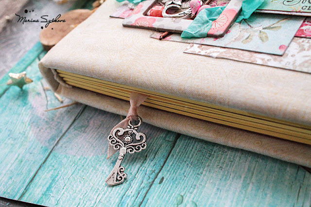 [ Shabby notebook ] @marinasyskova #notebook #scrapbooking #shabbychic