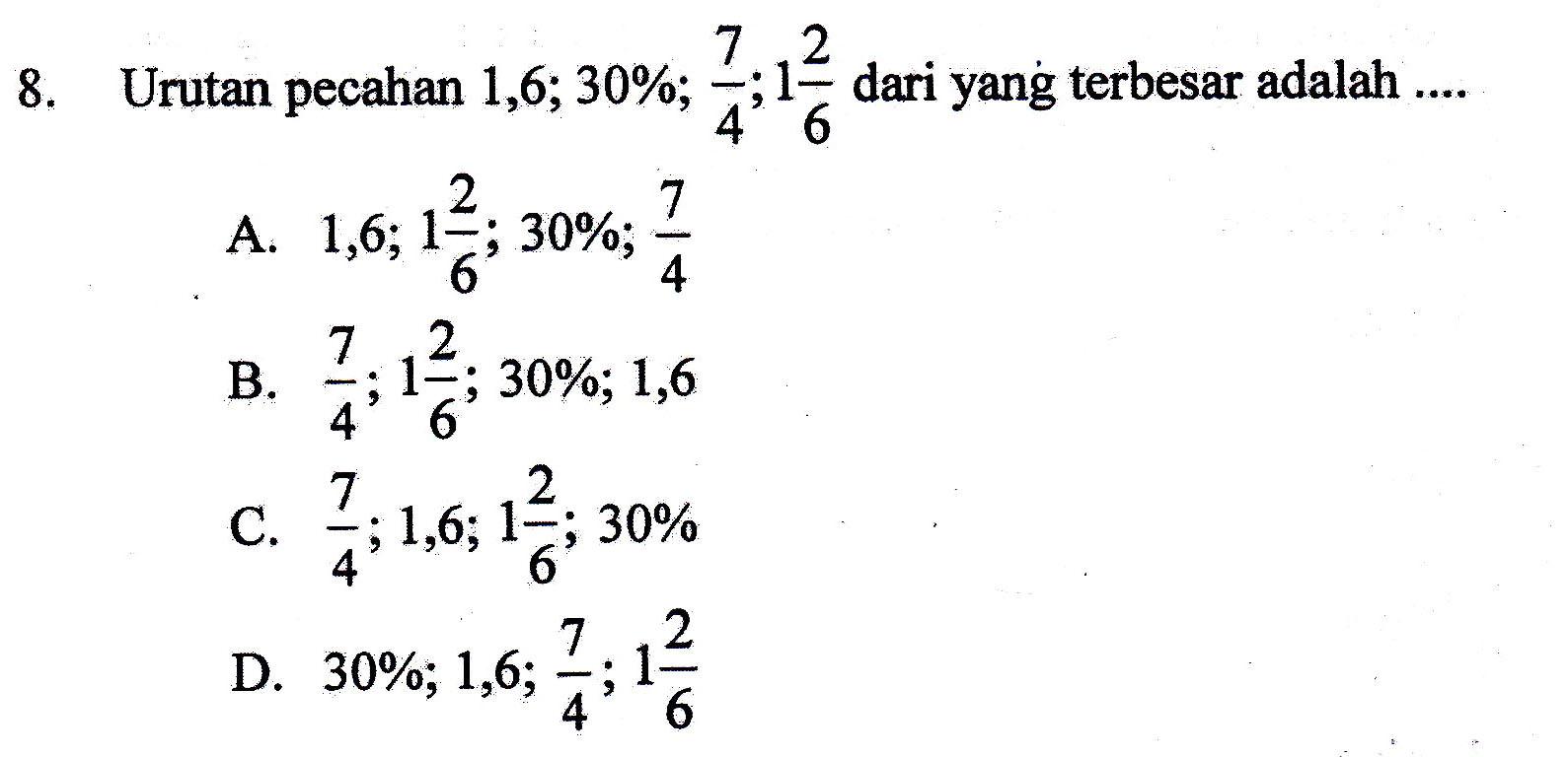 Cara Cepat Mengurutkan Berbagai Bilangan Pecahan  RUDI AZIS PERMANA, S.Pd.