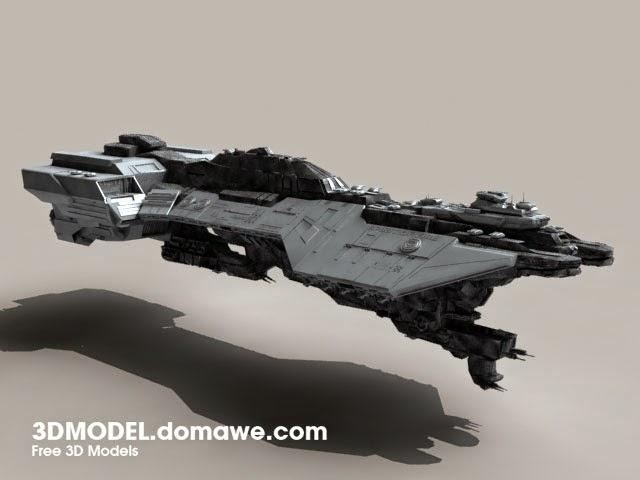 DOMAWE net: UNSC Spirit of Fire - Free 3D Models