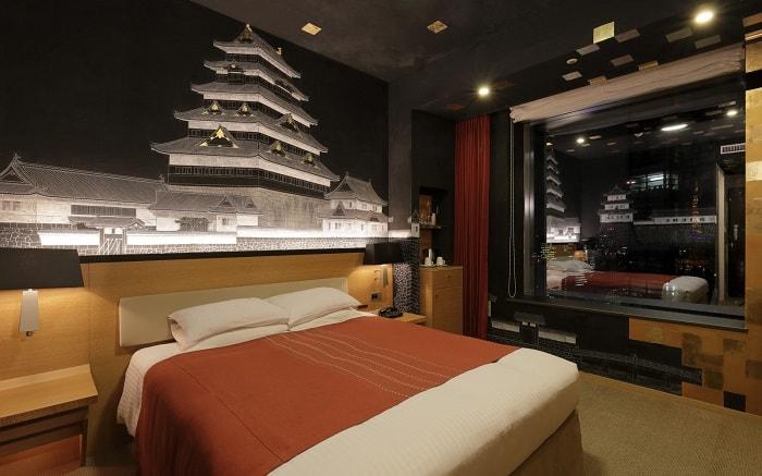 No. 21 Park Hotel Tokyo Artist Room 'Castle' designed by Kazuki Mizuguchi