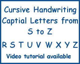 Cursive Handwriting Capital Letters From S To T Curious Brain