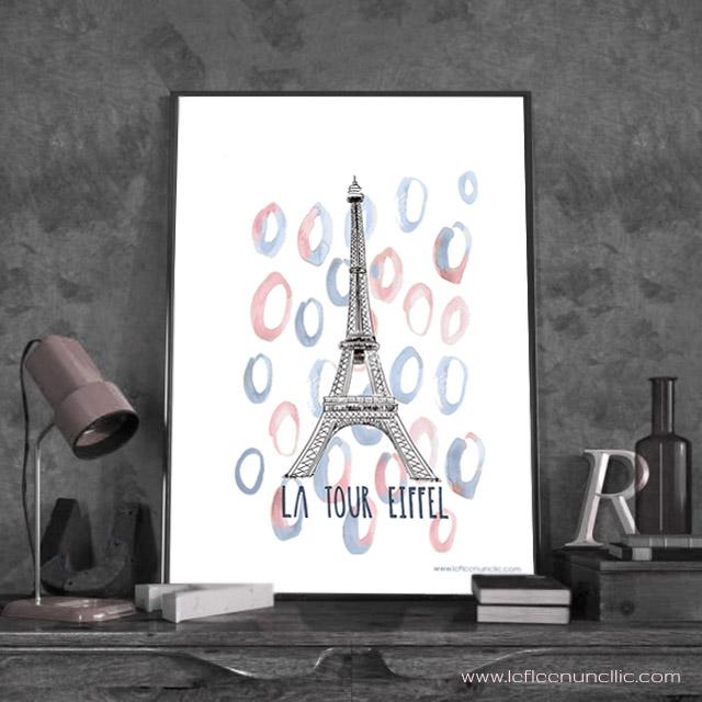 La tour Eiffel, affiche, monument français, FLE, le FLE en un 'clic'