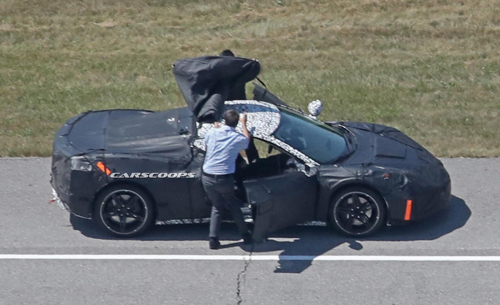 Mid Engine 2019 Corvette C8 Spied Gets Three Engine