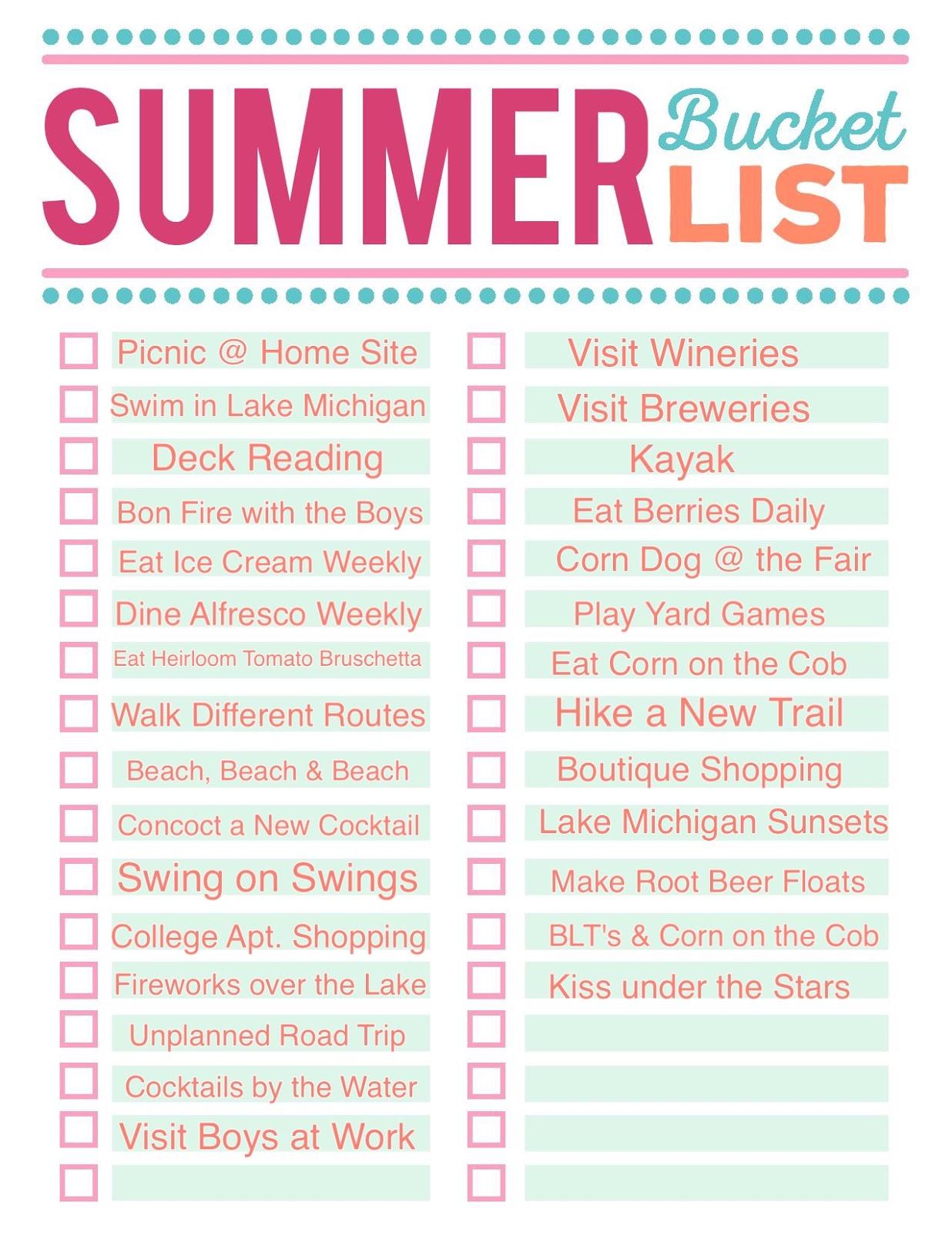 Living On Cloud Nine Summer Plans
