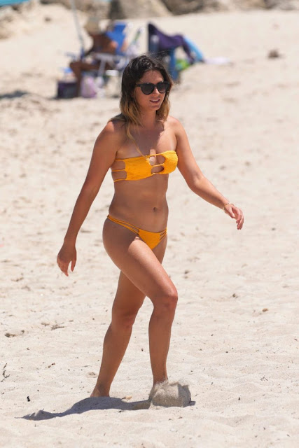 Anastasia Ashley in Yellow Bikini in Miami Beach