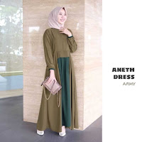 ANDHIMIND Gamis Dress Aneth Army