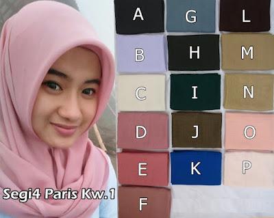 Model Jilbab Terbaru Paris Polos Kw.1