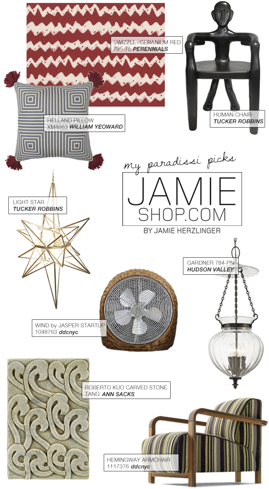 Jamie Shop by Jamie Herzlinger. Consumer access to interior design resources and trade only furnishings