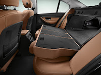 2013 BMW 3-Series (F30) Interior Detail Rear Seat BackRest Fully Folded