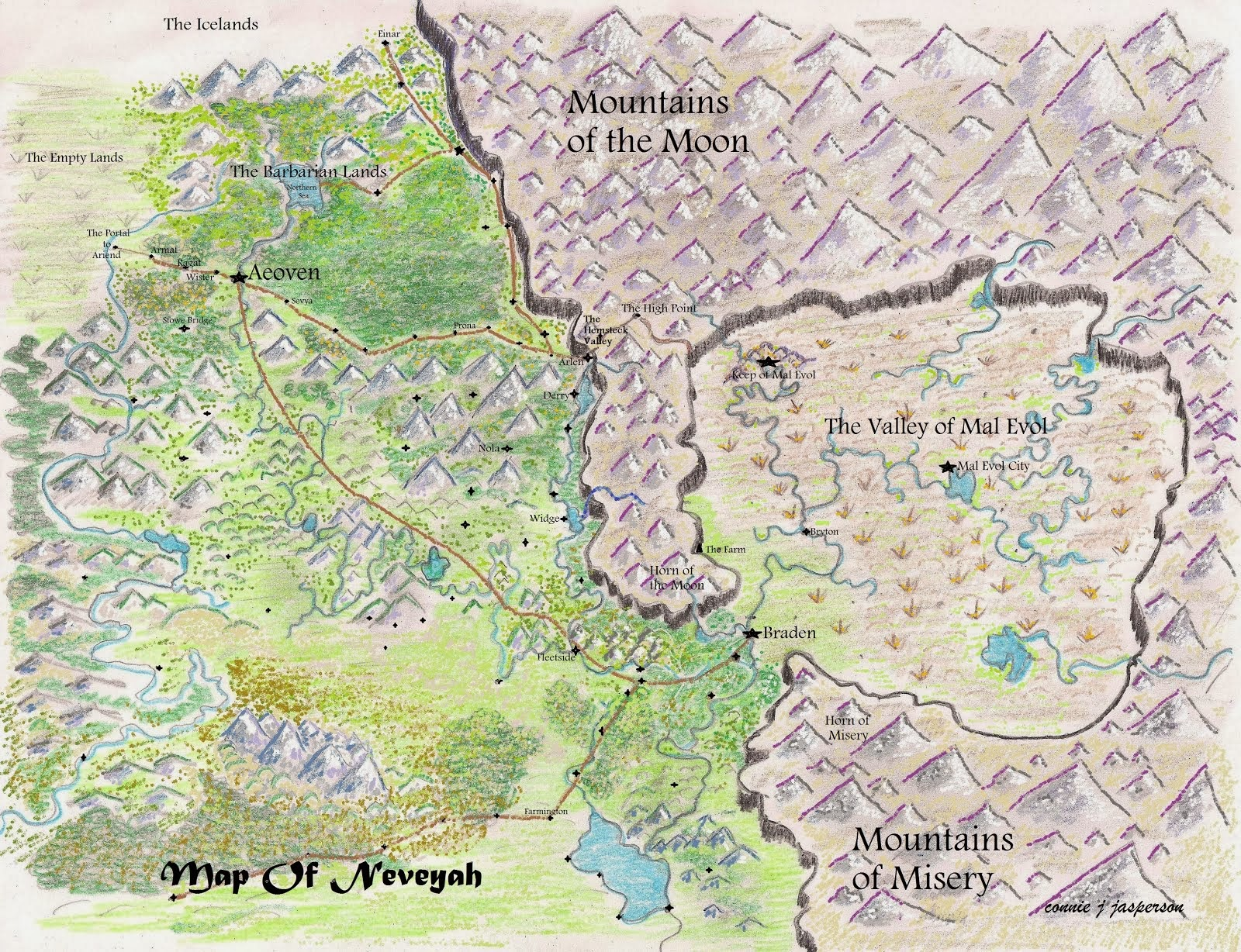 Full map of Neveyah
