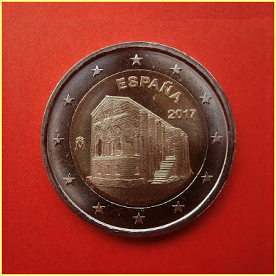 2 Euros España 2017 Asturias Naranco
