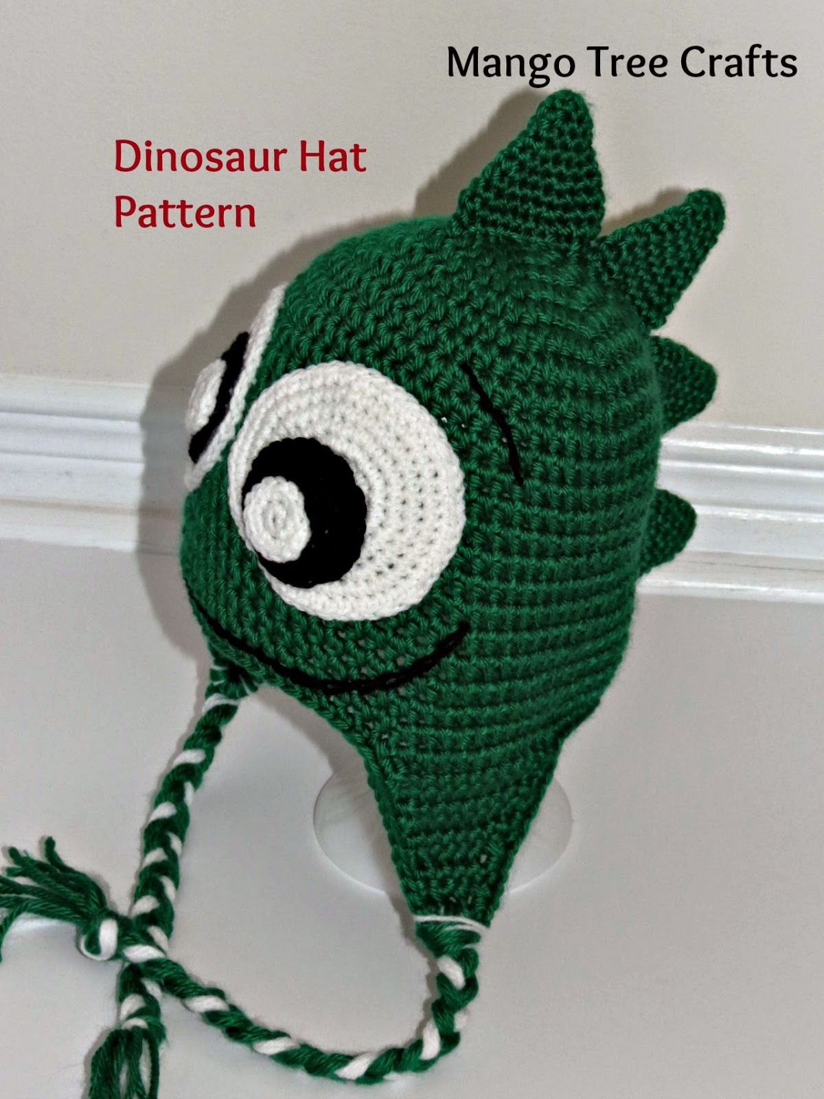 Free Crochet Pattern For Dinosaur Beanie : Mango Tree Crafts: Crochet Dinosaur Hat Pattern