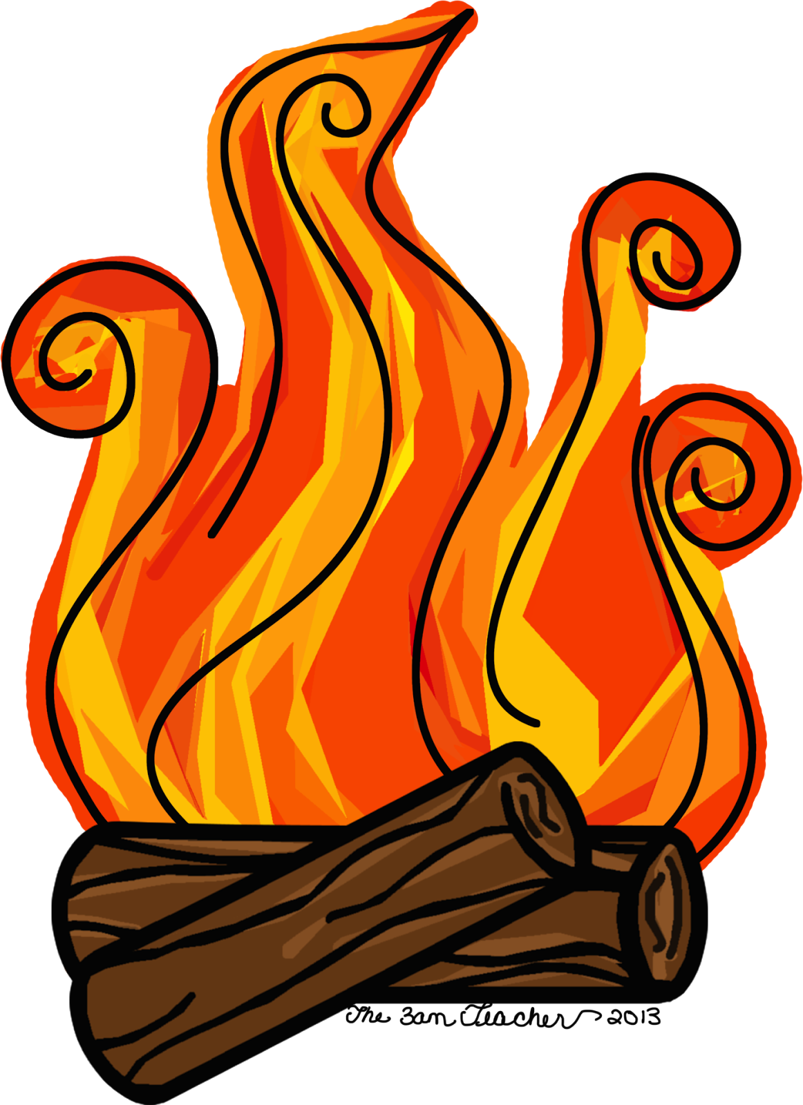 clipart fireplace fire - photo #14