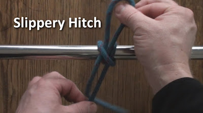 Tying a slippery hitch