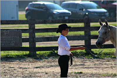 September 16, 2018 At another horse show with our grandchildren