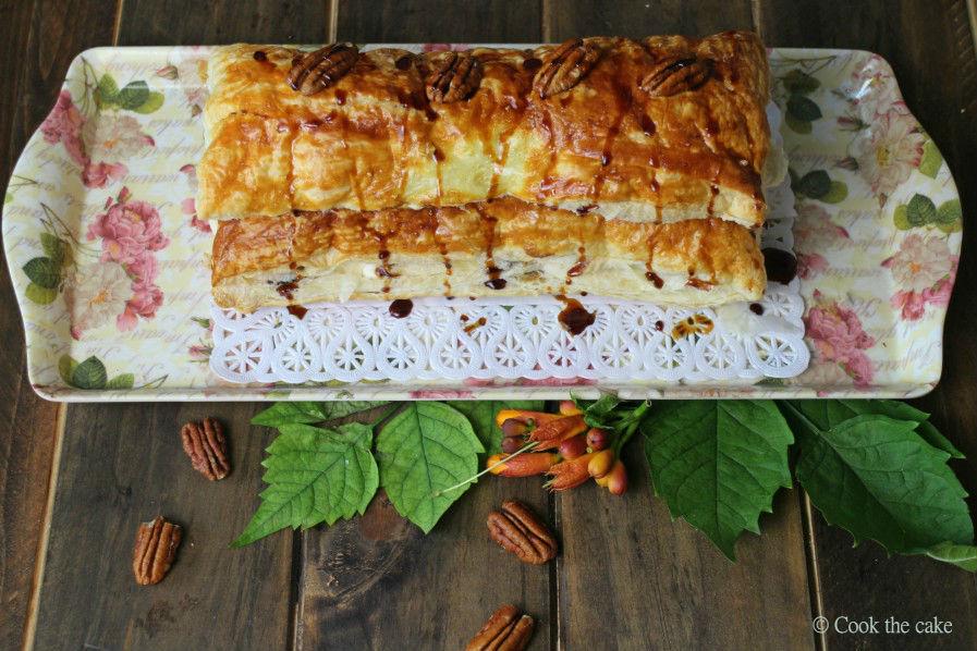 napoleones-de-melocoton, hojaldre-de-melocoton, melocotones, peaches-tart
